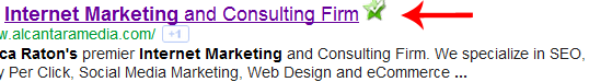Internet Marketing and Consulting Firm Title Tag Example