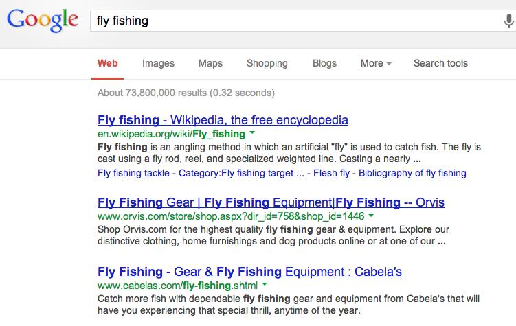Google Organic Search Result