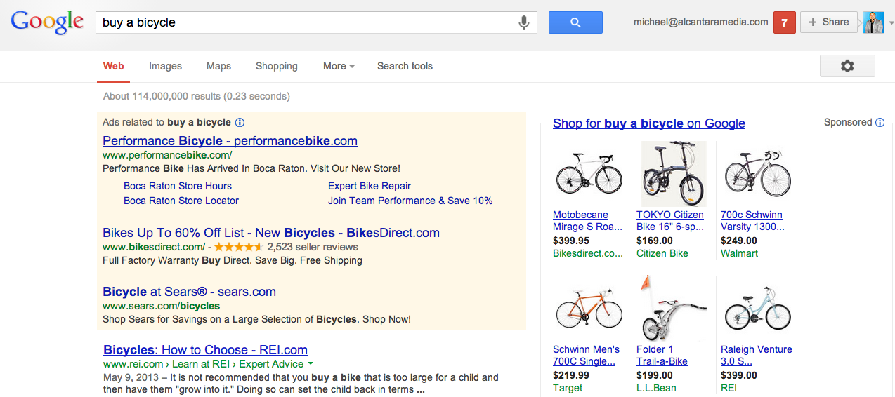 Google Search Ads Results